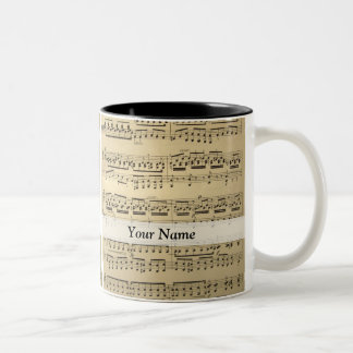 Vintage Music Sheet Coffee Mug