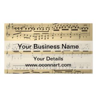 Vintage Music Sheet Pack Of Standard Business Cards