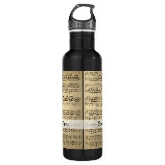 Vintage Music Sheet 710 Ml Water Bottle