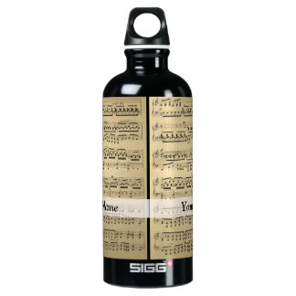 Vintage Music Sheet SIGG Traveller 0.6L Water Bottle