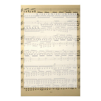 Vintage Music Sheet Stationery