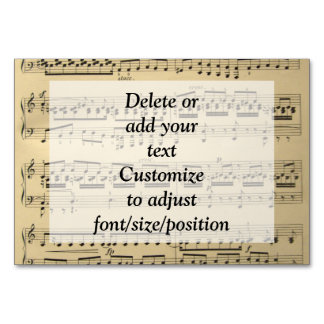 Vintage Music Sheet Table Cards