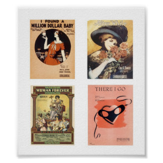 Vintage Music Sheets Poster