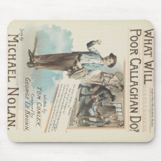 Vintage Music Song Sheet Poor Callaghan Chorus Mouse Pad