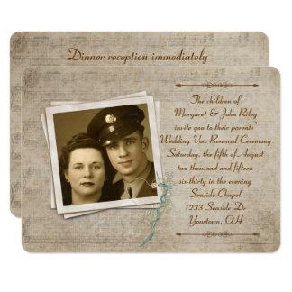 Vintage Music Wedding Vow Renewal Card