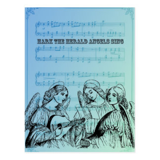 Vintage Musical Angels Postcard