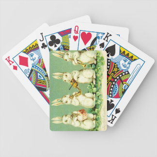Vintage Musical Easter Bunnies Bicycle Playing Cards