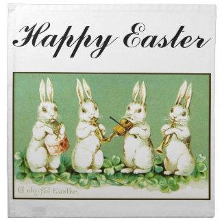 Vintage Musical Easter Bunnies Napkin