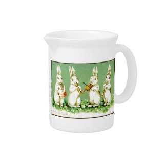 Vintage Musical Easter Bunnies Pitcher