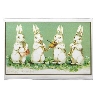 Vintage Musical Easter Bunnies Placemat