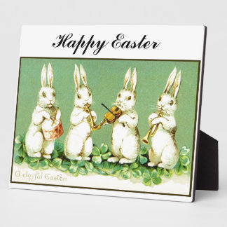 Vintage Musical Easter Bunnies Plaque
