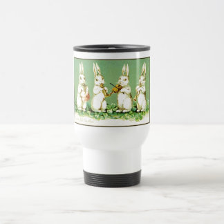 Vintage Musical Easter Bunnies Travel Mug