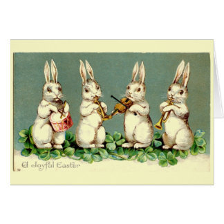 VIntage Musical Easter Bunny Card