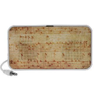 Vintage Musical Score PC Speakers