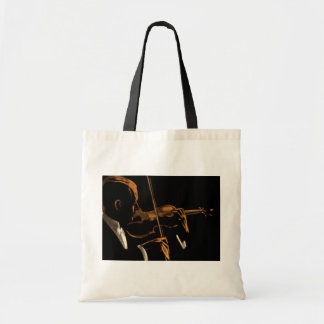 Vintage Musician, Violinist Playing Violin Music Tote Bag