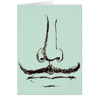 Vintage Mustache Blank Card