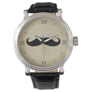 Vintage Mustache Men's Watch