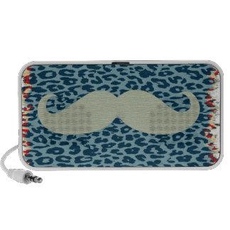 Vintage Mustache Mp3 Speakers