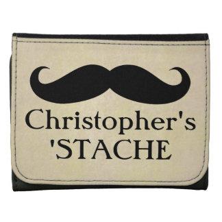 Vintage Mustache Stache Stash Wallet