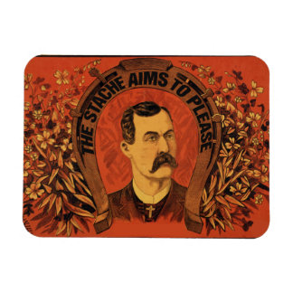 Vintage Mustache The Stache Aims to Please Rectangular Photo Magnet