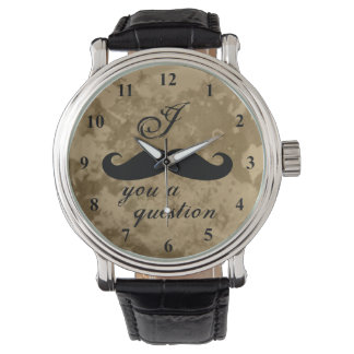 Vintage mustache watch for men