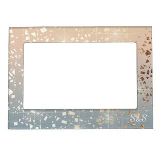 Vintage Muted 1920 Glam Gold Star Foil Sparkle Magnetic Frame
