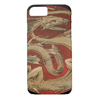 Vintage Mythology, Antique Golden Asian Dragon iPhone 8/7 Case