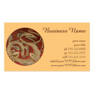 Vintage Mythology, Gold Asian Dragon Pack Of Standard Business Cards