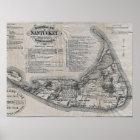 Vintage Nantucket Map Poster