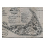 Vintage Nantucket Map Poster