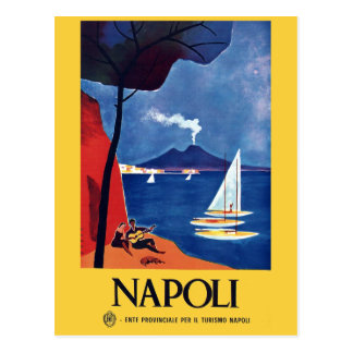 Vintage Naples Italy Travel Postcard