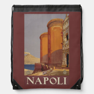 Vintage Napoli (Naples) Italy backbag Drawstring Bag