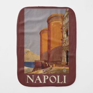 Vintage Napoli Naples Italy burp cloth