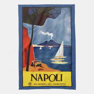 Vintage Napoli Naples Italy hand towel