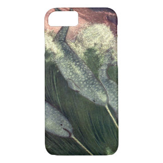 Vintage Narwhals Whales, Marine Life Ocean Animals iPhone 8/7 Case