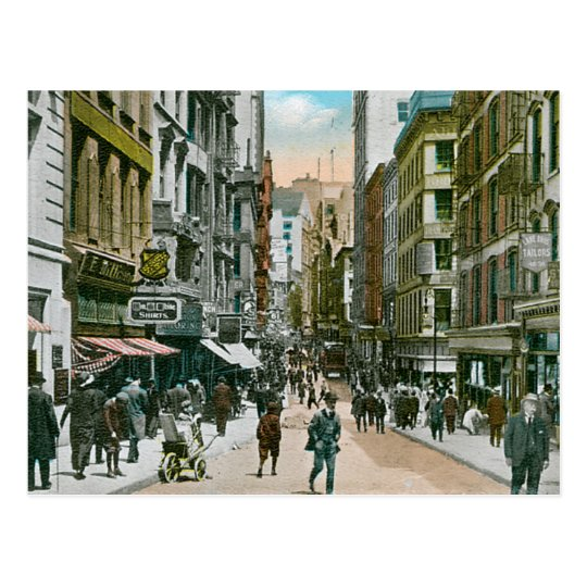 Vintage Nassau Street, New York City Postcard