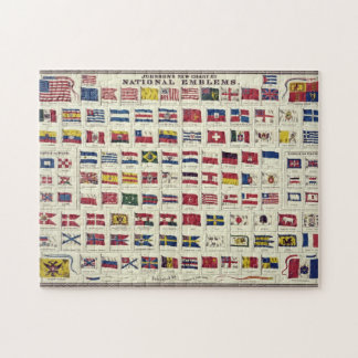 Vintage National Flags Chart - created 1863 Puzzle