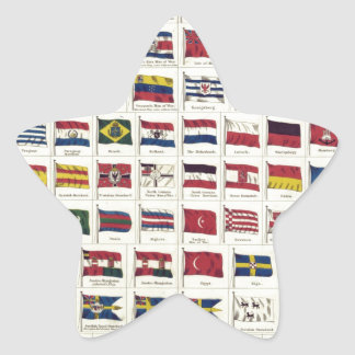 Vintage National Flags Chart - created 1863 Star Sticker