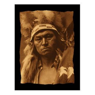 Vintage Native American Cayuse Warrior 1910 Postcard
