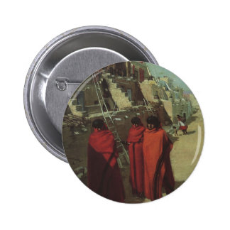 Vintage Native American, Hopi Pueblo by Louis Akin 6 Cm Round Badge