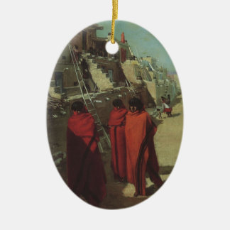 Vintage Native American, Hopi Pueblo by Louis Akin Christmas Ornament