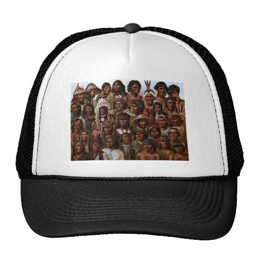Vintage Native American tribes and peoples picture Hats
