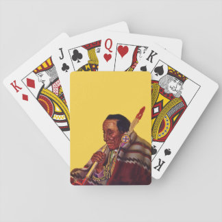 Vintage Native American Warrior Peace Pipe Playing Cards