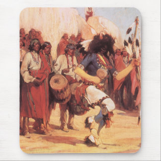Vintage Native Americans, Buffalo Dance by Cassidy Mouse Mat