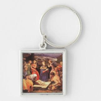 Vintage Nativity Painting Keychain
