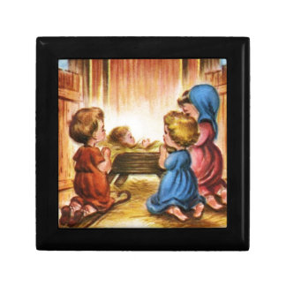 Vintage Nativity Scene Gift Box
