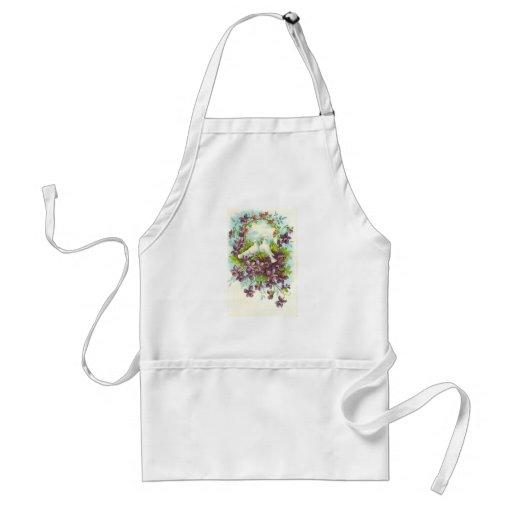 Vintage nature adult apron