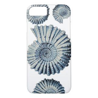 Vintage Nature Illustration Blue Spiral Shell iPhone 7 Case