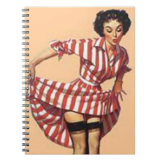 Vintage Naughty Candy Striper Pin Up Notebooks