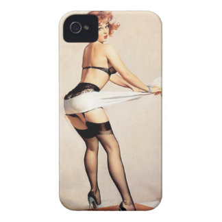 Vintage Naughty Fitness Guru Pin Up Girl iPhone 4 Covers
